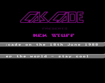 New Stuff Intro - Cascade - Amiga Intros