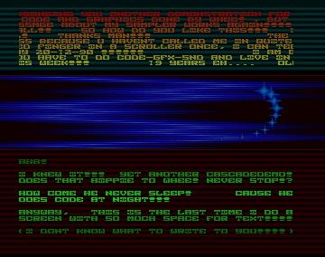 Whee's Demo - Cascade - Amiga Demos