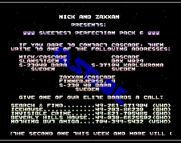 Sweetest Perfection Pack Intro - Cascade - Amiga Intros
